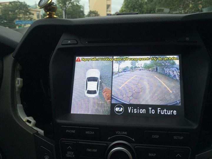 Camera 360 lắp trên xe ô tô Hyundai Santafe