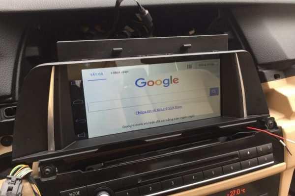 Nâng cấp màn hình dvd Android cho xe BMW