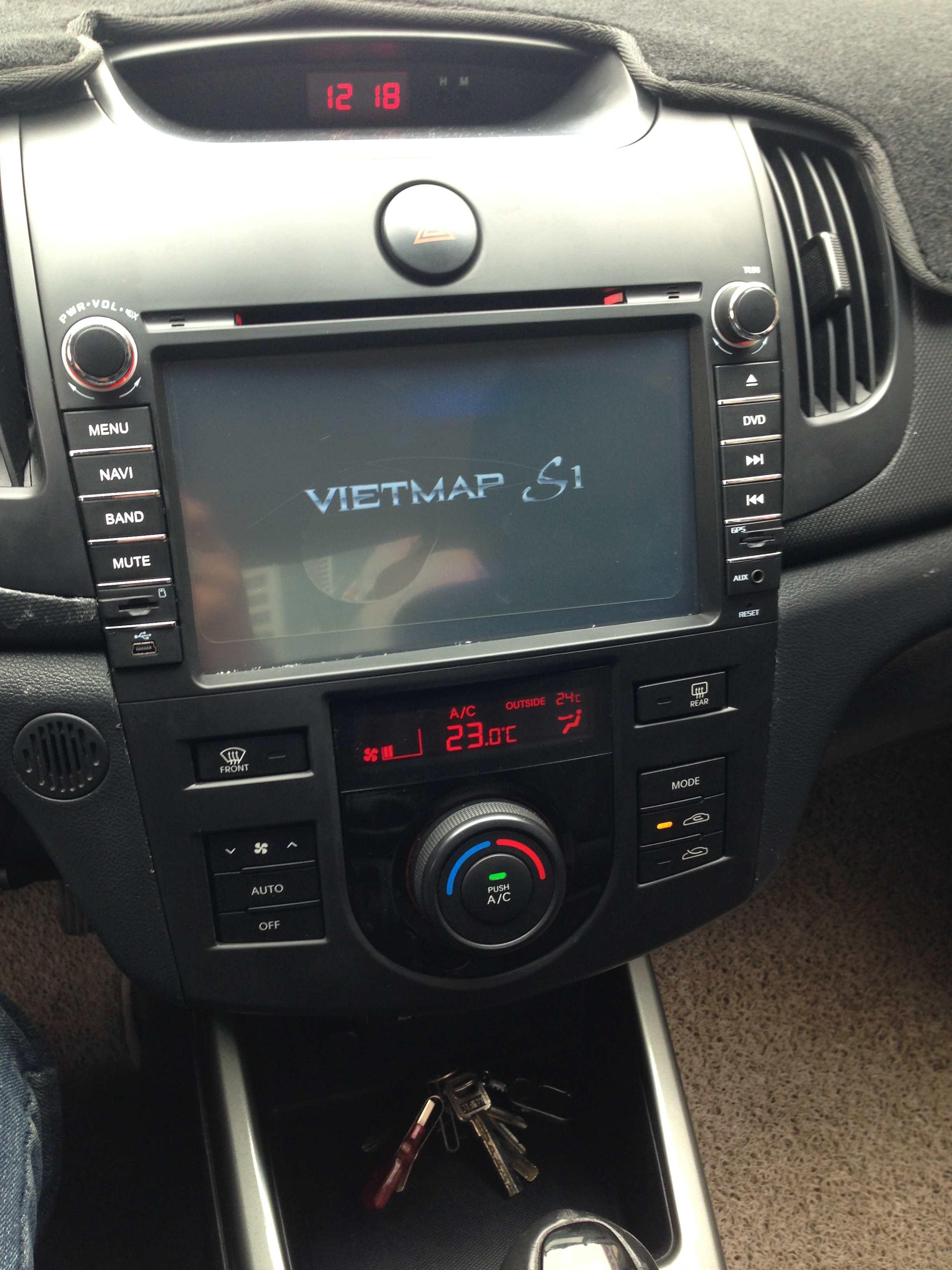 Màn hình dvd theo xe Kia Forte 2009-2012   Dũng Vương Car ...