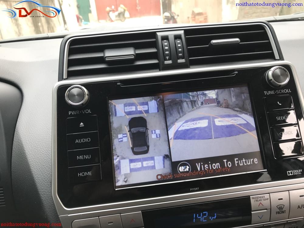 Camera 360 độ Oris lắp trên xe Toyota Land Cruiser Prado 2018