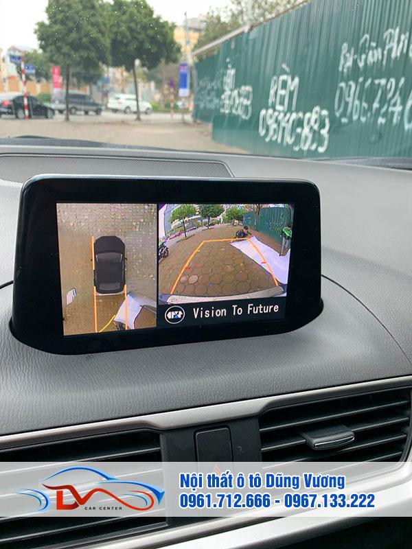 Camera 360 là thiết bị bạn có thể lắp đặt để quan sát toàn cảnh không gian xung quanh xe