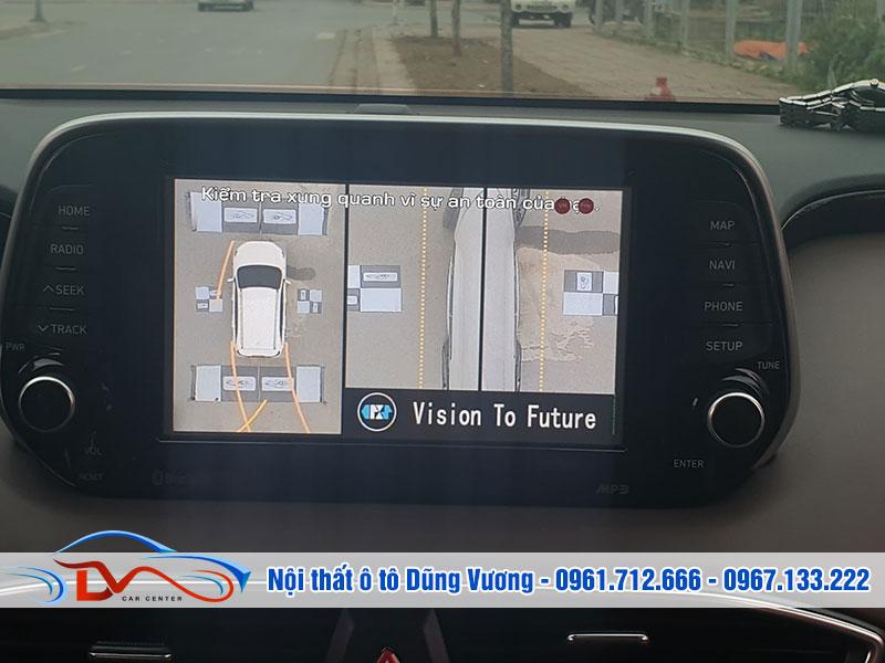 Camera 360 độ cho xe ô tô giúp quan sát toàn bộ điểm mù trên đường di chuyển