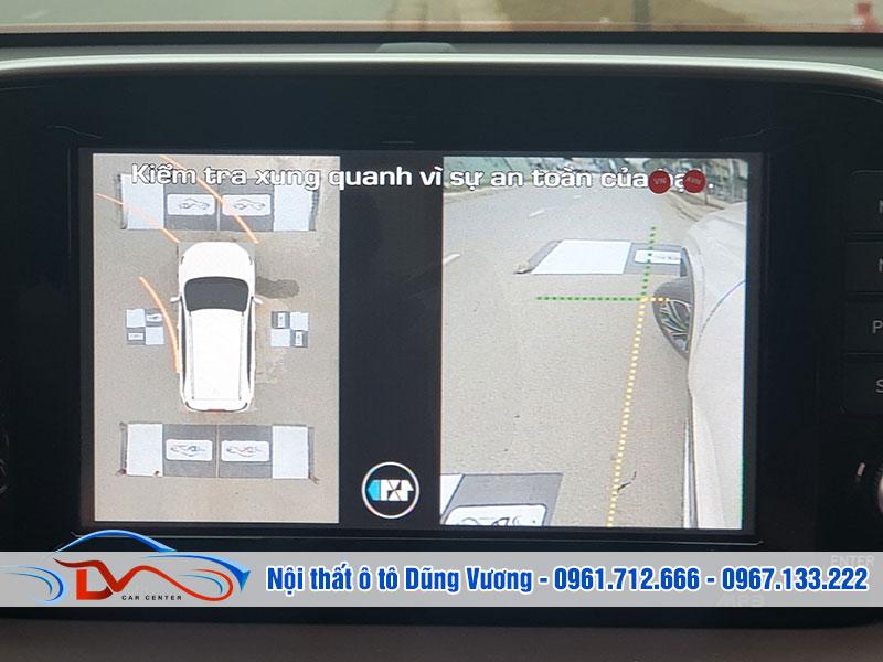 Khi xe ô tô vận hành cũng là lúc hệ thống camera 360 bắt đầu khởi động