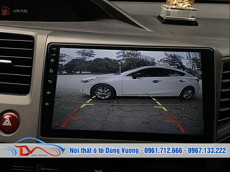 Màn hình DVD khi kết nối với camera 360 độ sẽ giúp bạn quan sát toàn cảnh không gian