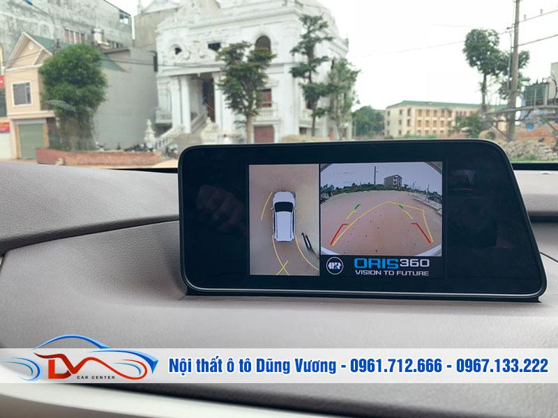 Camera hỗ trợ quan sát toàn cảnh không gian quanh xe