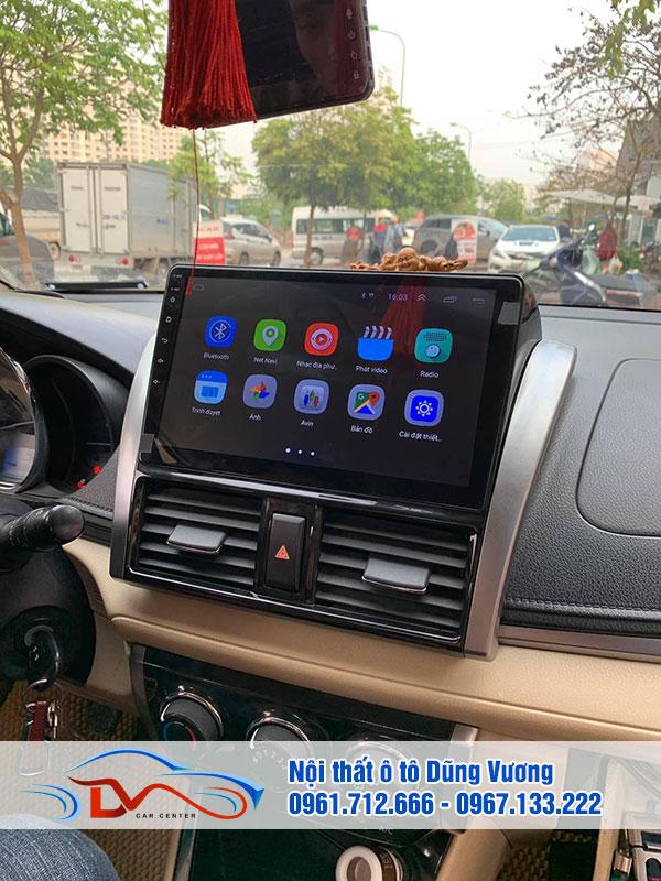 Bên trong Màn hình Android xe Toyota Vios 2019 có thể gắn sim 4G