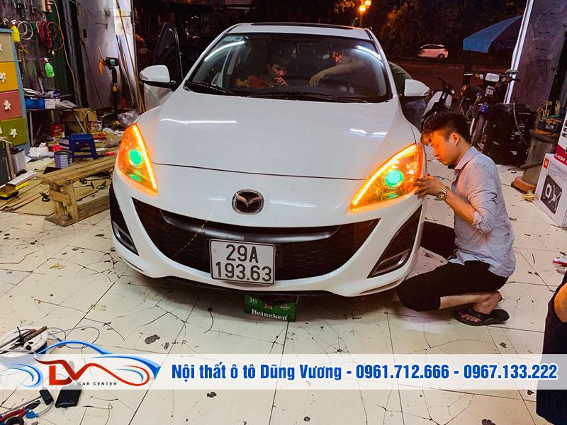 Nâng cấp đèn cho xe Mazda 3 2010-2014