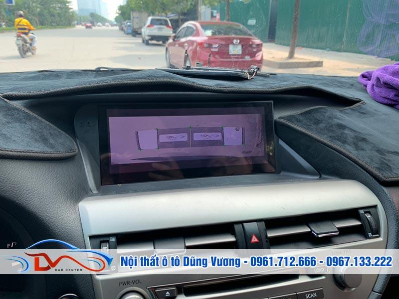 Camera 360 hiển thị vạch đánh lái theo vô lăng