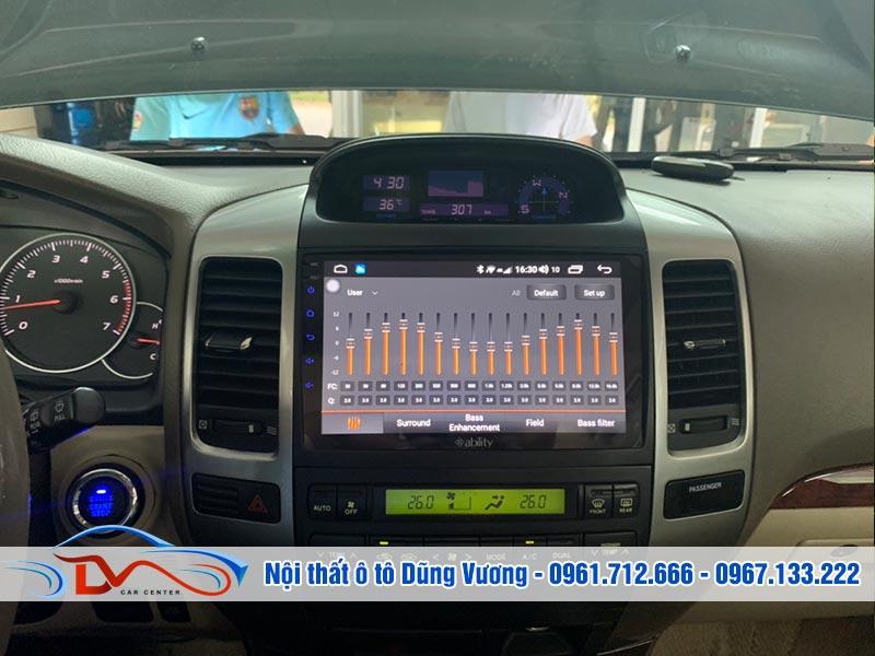 Chất lượng âm thanh sống động của màn hình cho xe Prado 2008