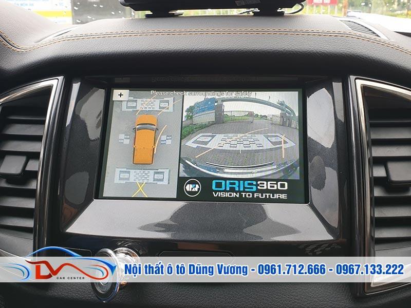Camera 360 độ Oris cho xe Ford Ranger 2019 mang lại nhiều lợi ích