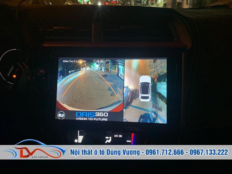 Camera 360 ô tô hỗ trợ quan sát toàn cảnh không gian