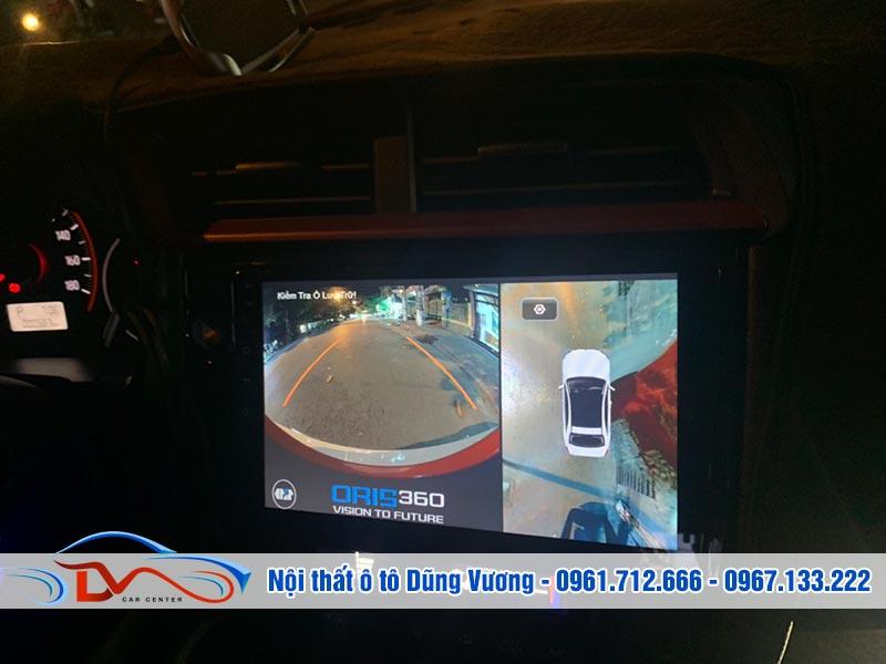Camera 360 Ô tô lắp trên xe Honda Brio thiết kế hiện đại