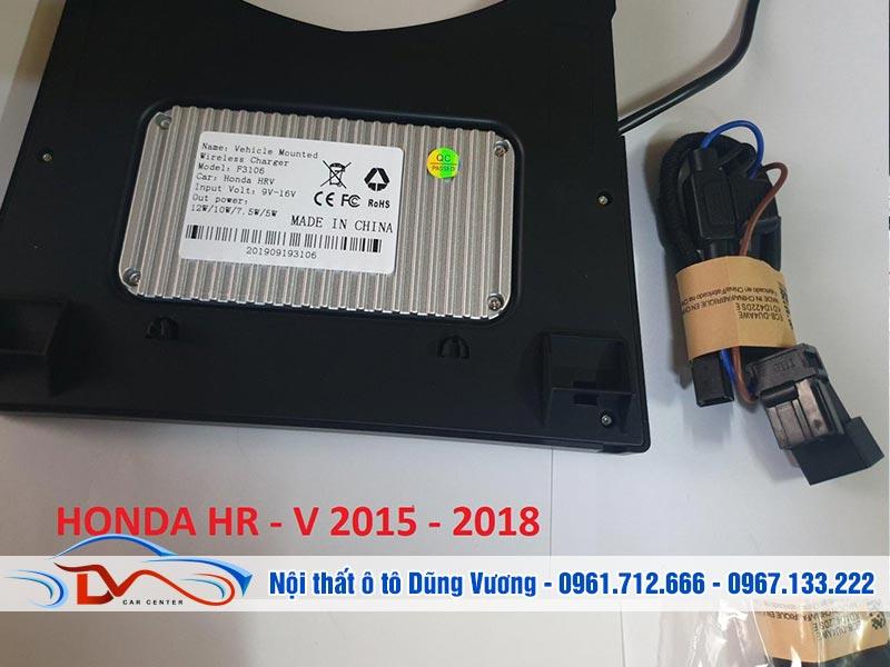 Sạc điện thoại không dây lắp trên xe Honda Hr-v 2015-2018 ứng dụng công nghệ sạc không dây hiện đại nhất