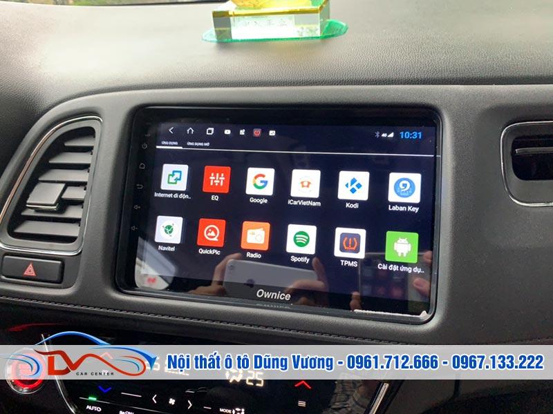 Màn hình Android cho xe Honda Hrv 2019 có thiết kế bên ngoài đẹp mắt