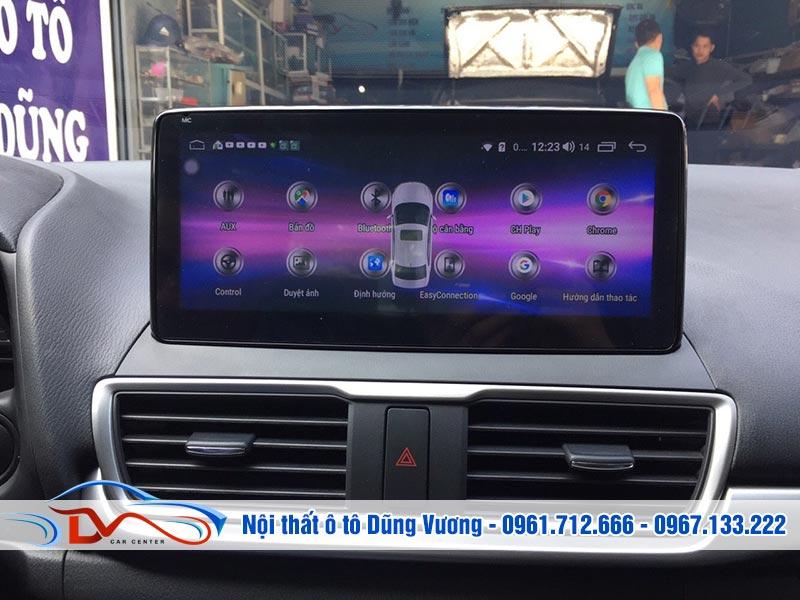 Màn hình Android Mazda 3 2014-2019 có thiết kế đẹp mắt