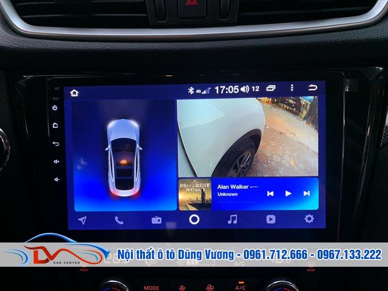 Thiết kế màn hình phù hợp để kết hợp cùng camera 360 ô tô