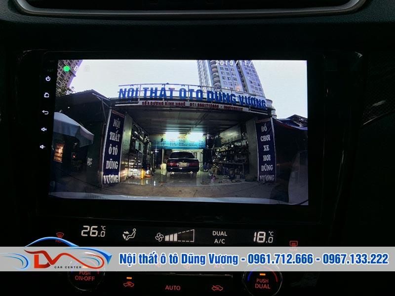 Màn hình kết hợp với camera 360 ô tô linh hoạt