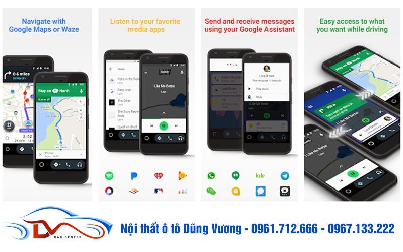 Android Auto là ứng dụng kết nối điện thoại và màn hình sử dụng hệ điều hành Android
