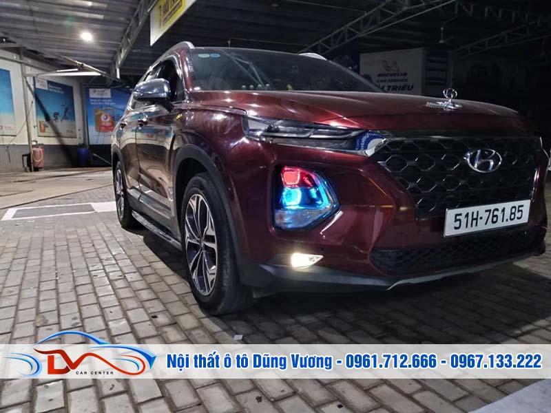 Độ Đèn bi xe Hyundai SantaFe 2020