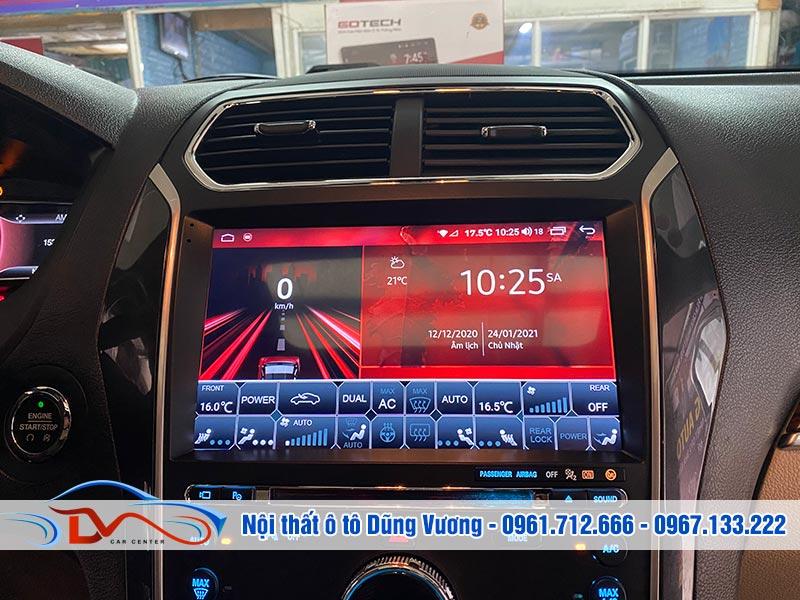 Màn hình GOTECH GT10 PRO lắp trên xe Ford Explorer