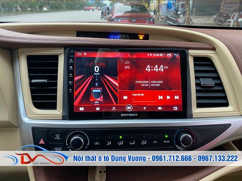 Màn hình Android Gotech Toyota Highlander