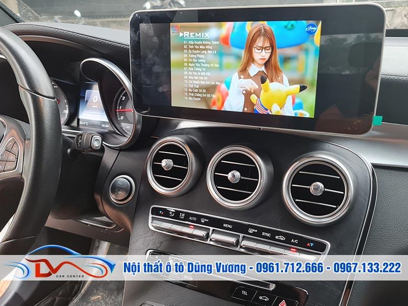 """Nâng cấp Màn hình Android 12,5"""" Mercedes GLC và Mercedes C 2015-2021"""