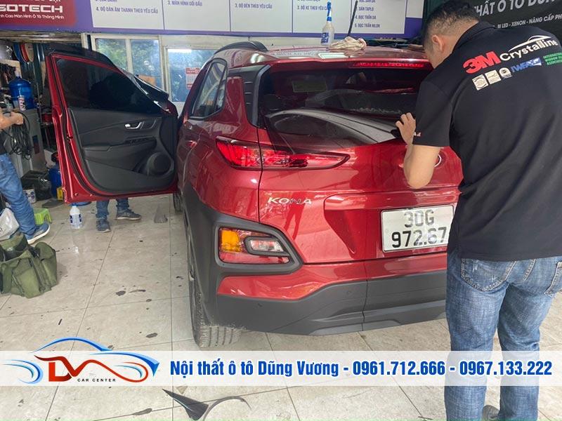 Dán phim cách nhiệt 3M chính hãng xe Hyundai Kona